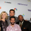 Yvonne Strahovski, Zach Levi, Mark Christopher Lawrence, Joshua Gomez — Stock Photo