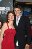 Mary Lynn Rajskub, Boyfriend Matthew Rolph — Stock Photo