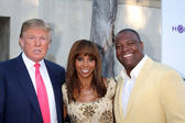 Donald Trump, Holly Peete, & Rodney Peete — Stock Photo
