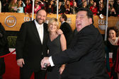Edie Falco and James Gandolfini and Steve Schirripa — Stock Photo