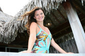 Heather Tom in Bora Bora — Stock Photo