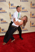 Mark Ballas & Shawn Johnson — Fotografia Stock