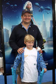 Andy Richter and Son — Stock Photo