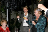 Brad Bell toasting Jeanne Cooper — Stock Photo