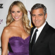 Stacy Keibler, George Clooney — Stock Photo #12944100