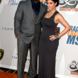 Reggie Bush &amp; Kim Kardashian - Stock Photo