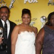 (L-R) Director Lee Daniels, actresses Mo'Nique, Gabourey Sidibe — Stock Photo