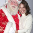 Susan Lucci &amp; Santa Claus  Tom Connaghan - Lizenzfreies Foto