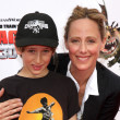 Kim Raver &amp; Son Luke - Lizenzfreies Foto
