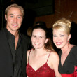 Kyle Lowder, Adrienne Frantz  with Adrienne's cousin — Stock Photo