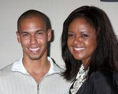 Bryton James & Tonya Lee Williams — Stock Photo