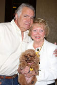 John McCook, Lee Bell & Her dog Joy — Stock Photo