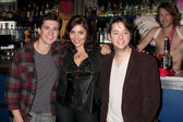 Josh Heine (Cupid), Jo Bozarth (Eros), Bradford Anderson (Achilles) — Stock Photo