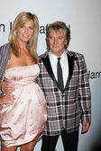 Rod Stewart, Wife Penny — Stock Photo