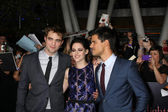 Robert Pattinson, Kristen Stewart, Taylor Lautner — Stock Photo