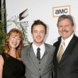 Aaron Paul & His Parents — Stock Photo