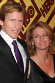 Denis Leary & wife — Stock Photo
