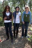Claudia Jordan, Marisa Ramirez, and Rachelle Carson — Stock Photo