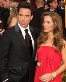 Robert Downey Jr & Wife Susan Downey — Stock Photo