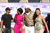 Romeo Miller, Kelly Rowland, Cymphonique Miller, Master P — Stock Photo