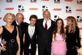 Penelope Ann Miller, Carl Reiner, Callan McAuliffe, Rob Reiner, — Stock Photo