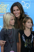 Cindy Crawford & her children — Stock Photo