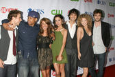 Dustin Milligan, Tristan Wilds, Shenae Grimes, Jessica Stroup, Michael Steger, AnnaLynne McCord and Ryan Eggold — Stock Photo