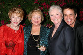 Jeanne Cooper, Lee Bell, Susan Flannery and Christian LeBlanc — Stock Photo