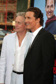 Michael Douglas & Matthew McConaughey — Stock Photo