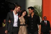 Robert Pattinson, Kristen Stewart, Taylor Lautner — Stock Photo