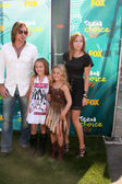 Billy Ray Cyrus, Noah Cyrus, Emily Grace and Brande Cyrus — Stock Photo