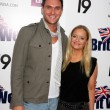 Owain Yeoman &amp; Lucy Davis - Stock Photo