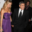 Stacy Keibler, George Clooney - Stock Photo
