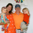 Neal McDonough, wife & Kids — Stock Photo