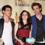 Постер, плакат: Taylor Lautner Kristen Stewart & Robert Pattinson