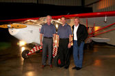 """Captain Chesley """"Sully"""" Sullenberger, Jeff Skiles, & Harrison Ford — Stock Photo"""