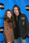 Miley & Billy Ray Cyrus — Stock Photo