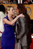 Kate Winslet & Mickey Rourke — Stockfoto