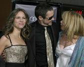 Robert Downey Jr & Wife Susan Downey, Patricia Arquette — Stock Photo