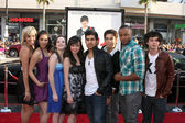 Fame Cast (2009) - Kherington Payne, Kristy Flores, Kay Panabaker, Anna Maria Perez de Tagle, Walter Perez, Asher Book, Collins Pennie, and Paul Lacono — Stock Photo
