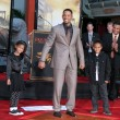 Stock Photo: Will Smith, with his kids Willow and Jaden