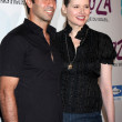 Geena Davis & husband — Stock Photo
