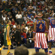 Flea playing on team against Globetrotters — Stock Photo