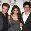 Paul Wesley, NinDobrev, ISomerhalder — Stock Photo #12979433