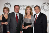 Pat Mitchell, Al Michaels, Mary Hart, Les Moonves — Stock Photo