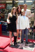 Roma Downey with her daughter Reilly Anspaugh & Mark Burnett and his son Cameron — Stock Photo