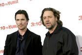 Christian Bale & Russell Crowe — Stock Photo