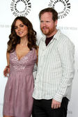 Eliza Dushku & Joss Whedon — Stock Photo