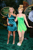 Tinkerbell & Kristin Chenoweth — Stock Photo
