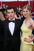 Joe Wright & Rosamund Pike — Stock Photo